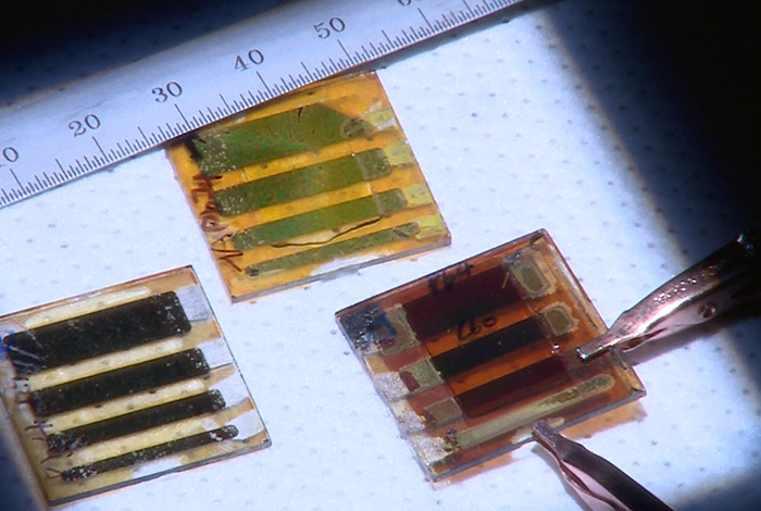 Researchers have developed a new type of two-dimensional layered perovskite with outstanding stability and more than triple the material's previous power conversion efficiency.