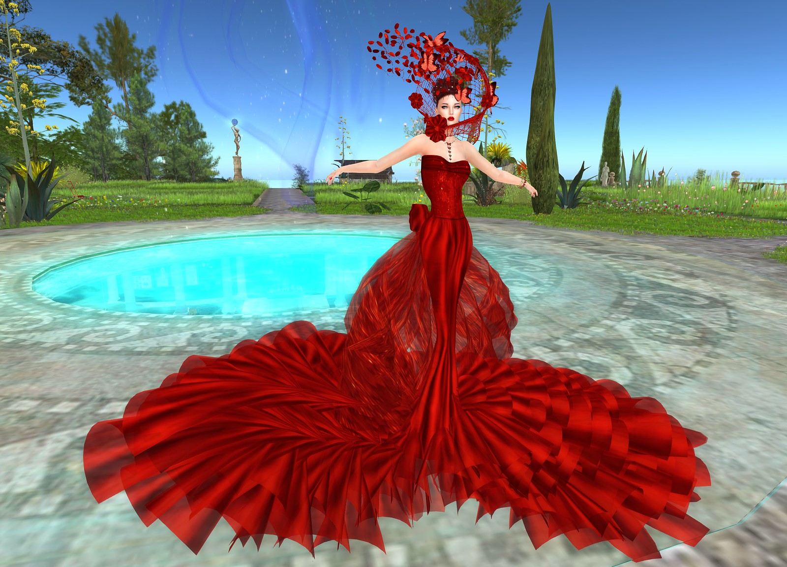 Opera Gown Couture Carmin