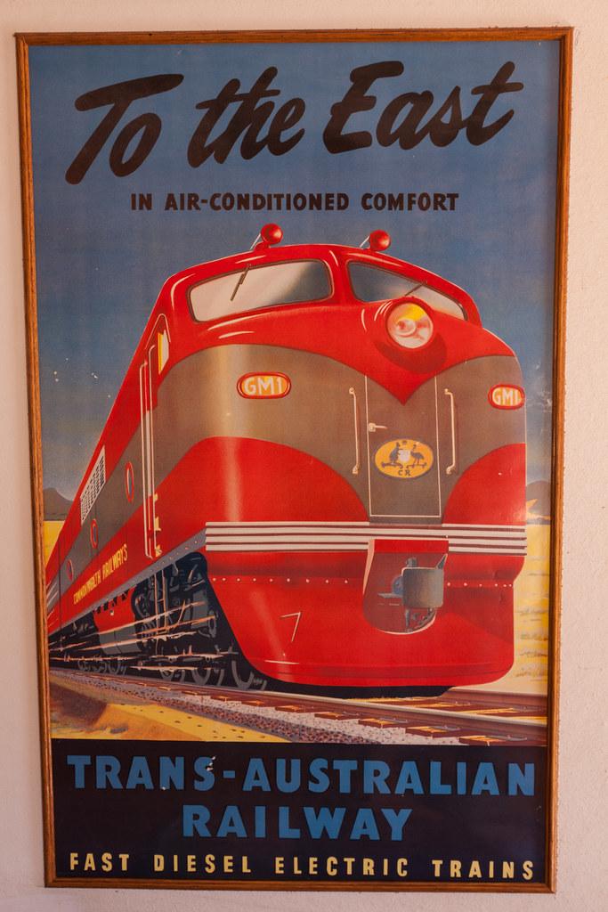 Vintage railway poster the old ghan heritage railway for Vintage train posters