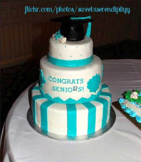 Pin Graduation Damask Edible Party Cake Image Cupcake