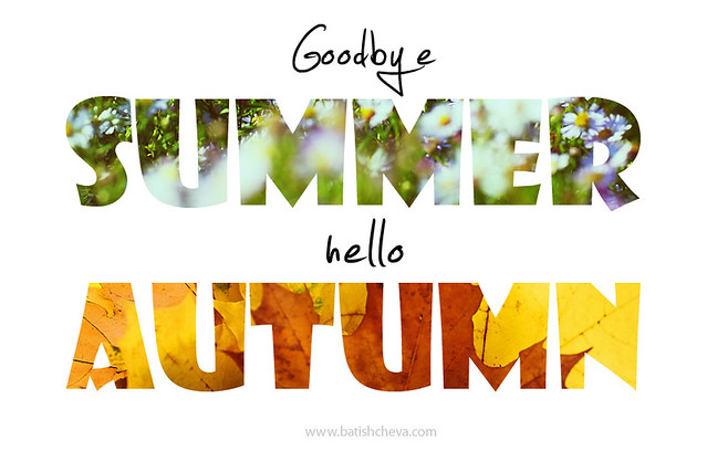 Goodbye summer hello autumn  seasons change  By: LikClick Photography  Fli...