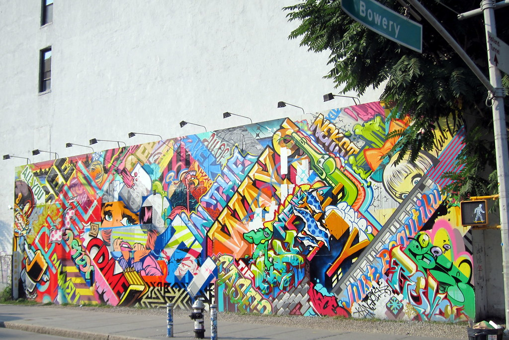 NYC - East Village: Bowery Mural - Revok x Pose | Pose and ...