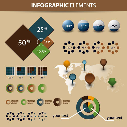economy-infographics-and-chart-design-elements-vector