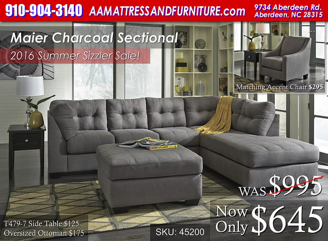 Maier Charcoal Sectional WM