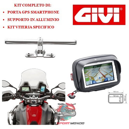 Mt 09 900 tracer abs 2015 2016 kit per moto porta - Porta navigatore givi ...