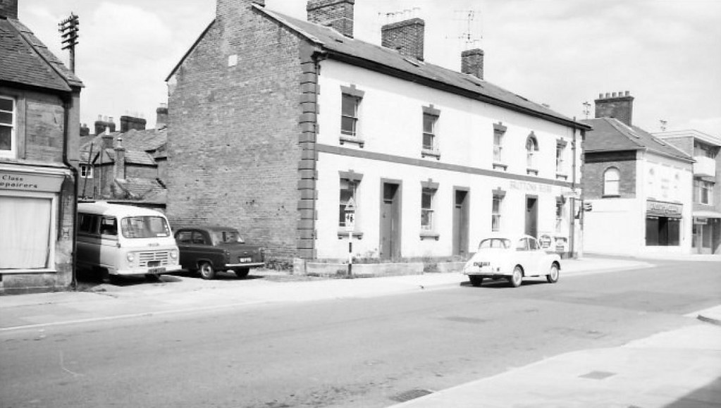 1965c huish yeovil where the cars are parked is now. Black Bedroom Furniture Sets. Home Design Ideas