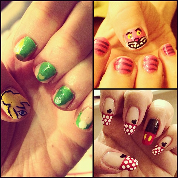 Tinkerbell Nails: We Totally Went #Disney! Claire Did Tinkerbell #nails, I G