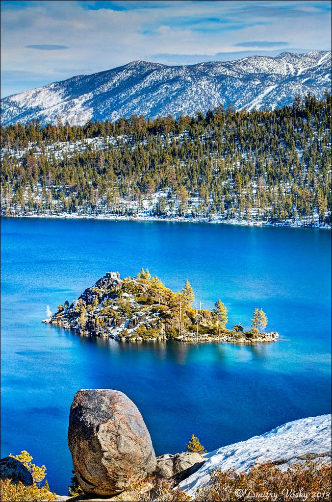 Lake Tahoe Winter Wallpaper Desktop Background: Winter Scene, Overlooking