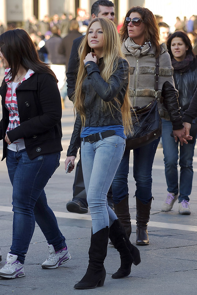 Long Hair, Tight Jeans, Black Boots 3  Booster Again  Flickr-1360
