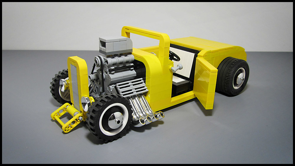 how to build a lego hot rod