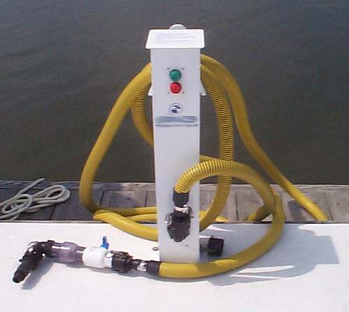 Photo of boating pumpout station at marina
