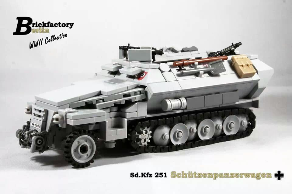 My Lego Custom Sd Kfz 251 V 1 Sch 252 Tzenpanzerwagen Flickr