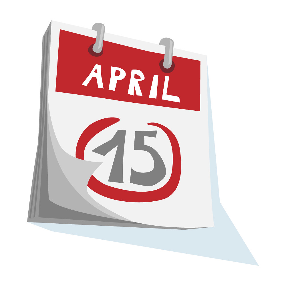 April 15 | The US Tax Deadline on a calendar - April 15. — W ...