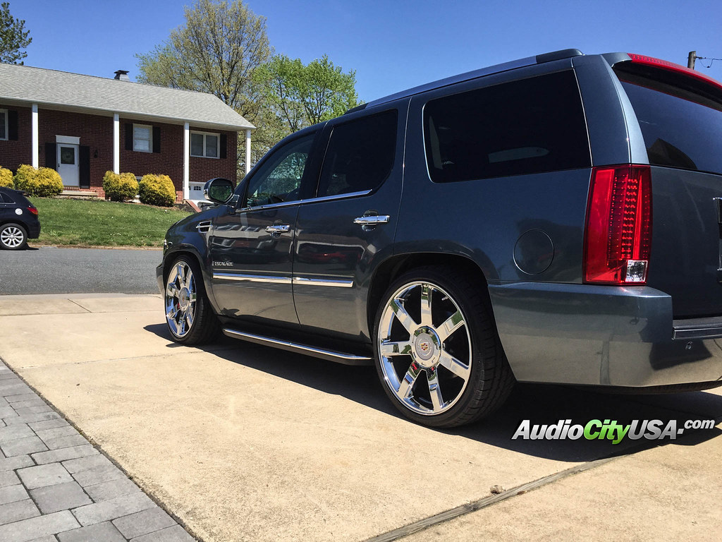 2008 cadillac escalade on 24 quot escalade platinum edition wheels chrome by audio city on flickr