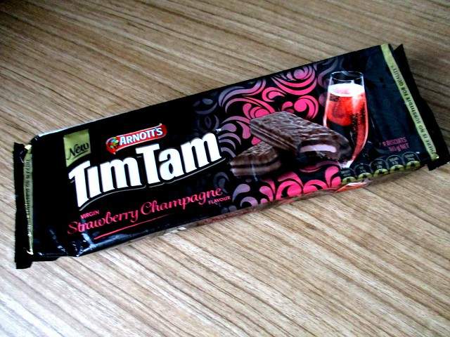 Tim Tam strawberry champagne flavour