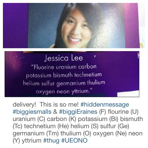 New student uses periodic table in yearbook urtaz Choice Image