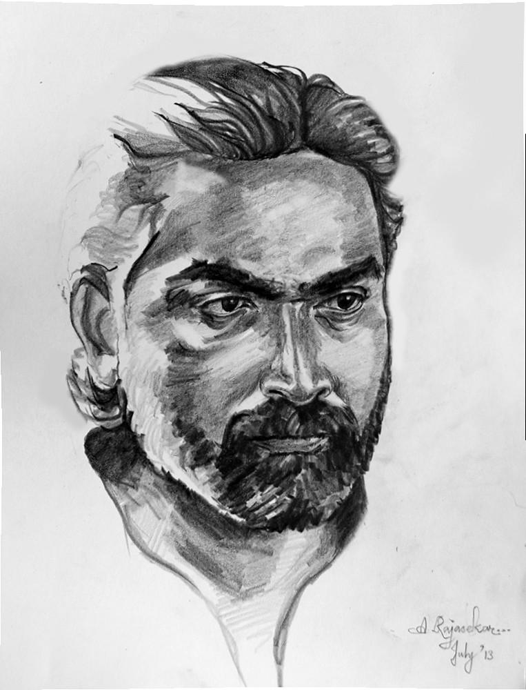 Pencil Drawing Of Vijay Sethupathi - pencildrawing2019