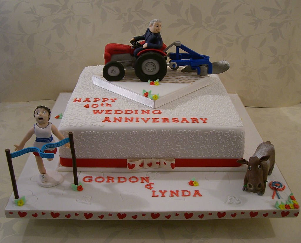 funny wedding cakes images 40th wedding anniversary cake i made this cake for 14580