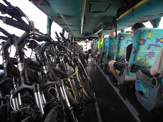 Inside the coach