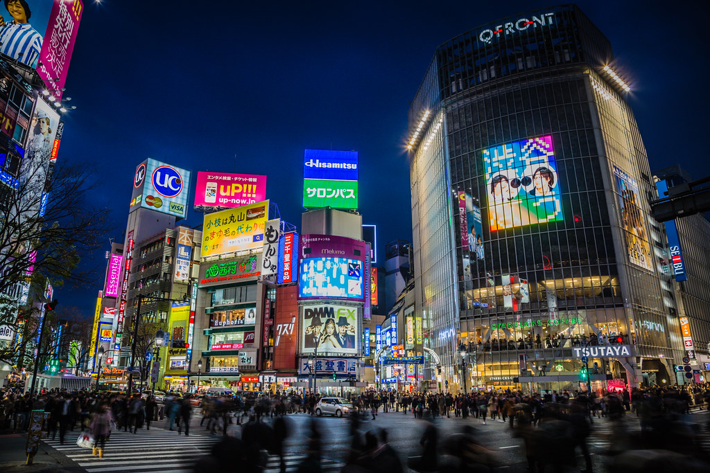 Shibuya Crossing at Night // Tokyo, Japan | Nightscape of ...
