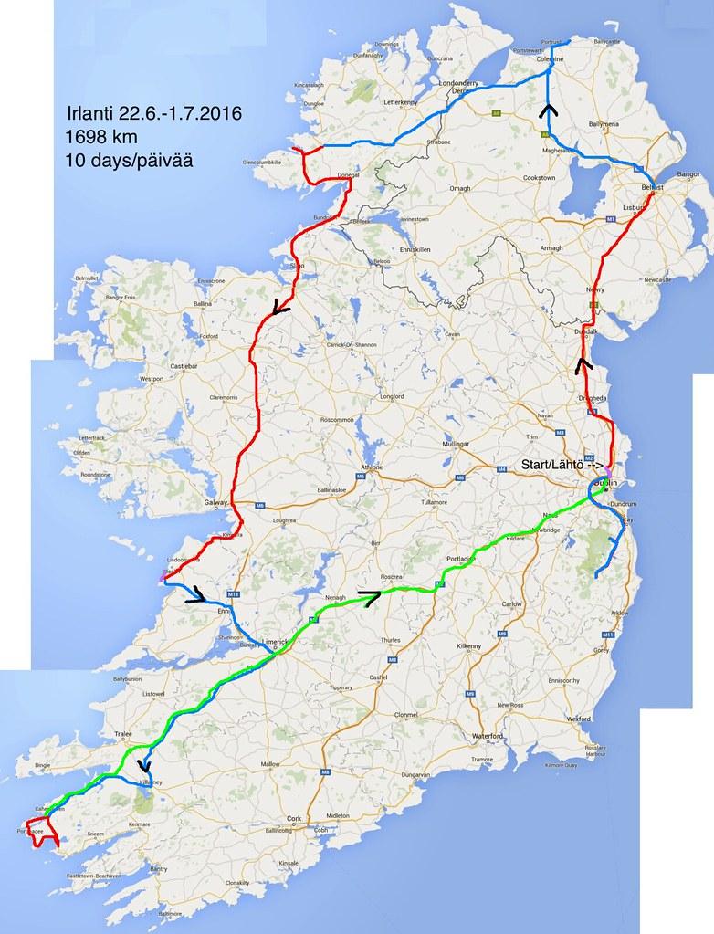 Ireland route 2016