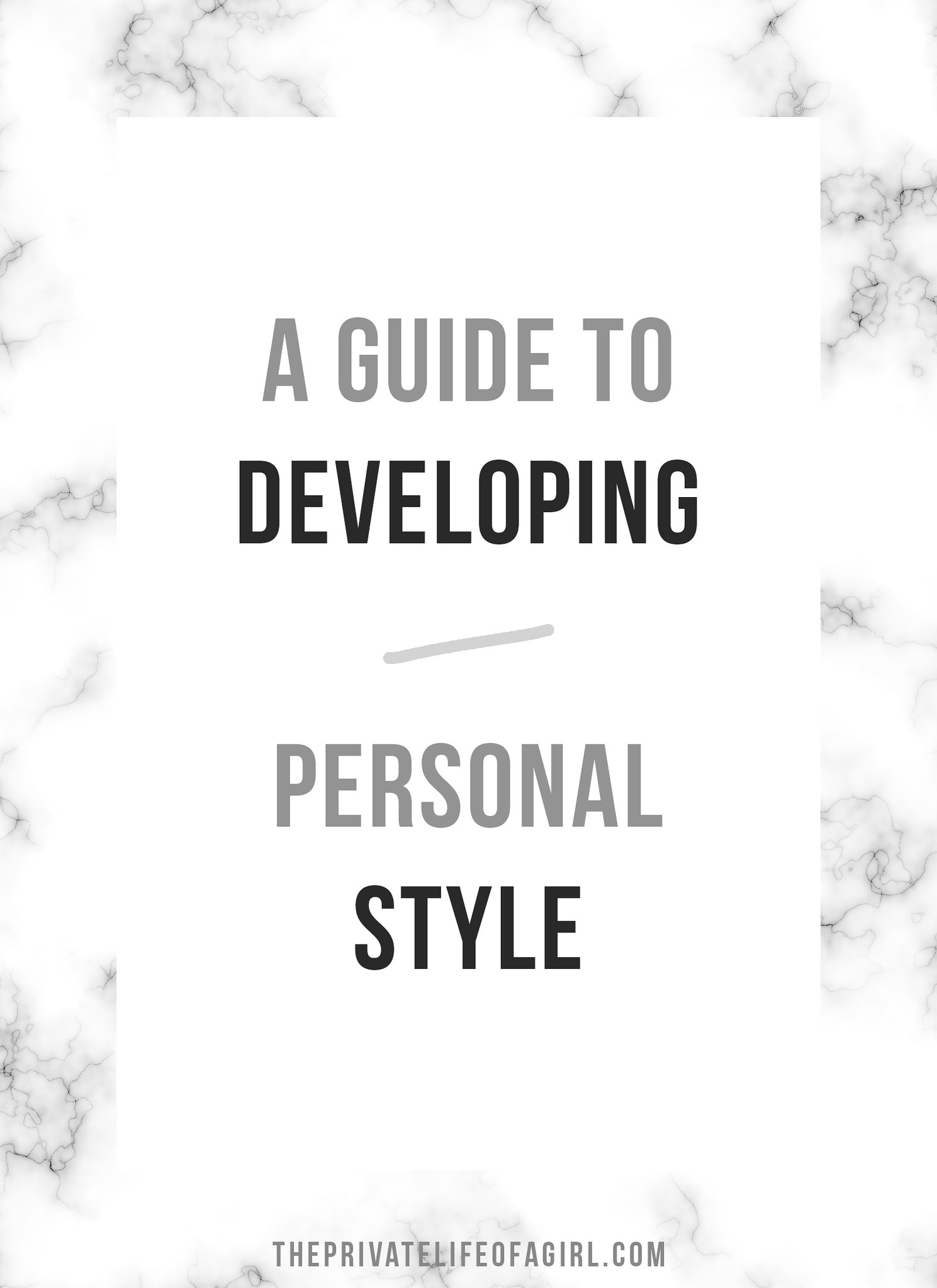 Developing Personal Style