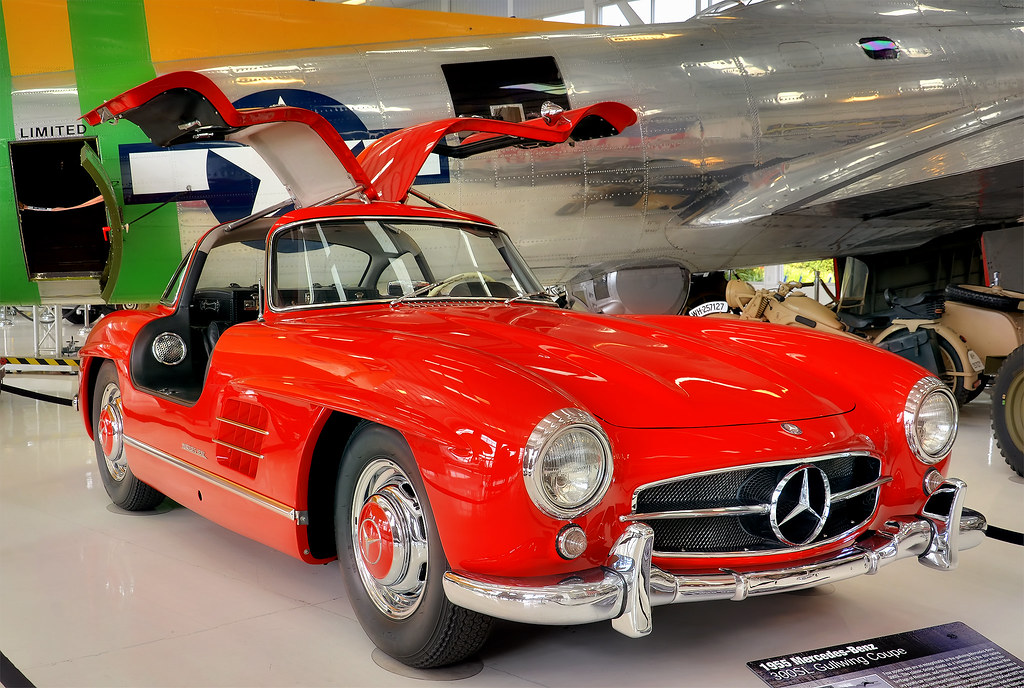 1955 mercedes benz 300sl gullwing coupe lyon air museum flickr. Black Bedroom Furniture Sets. Home Design Ideas