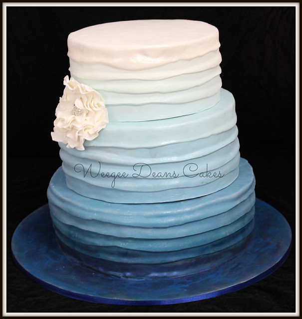 blue ombre wedding cake ombre blue wedding cake flickr photo 11997