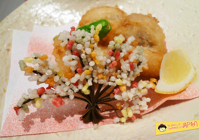 Shogetsu Grand Hotel - Shogetsu style seasonal dinner - rice puffs
