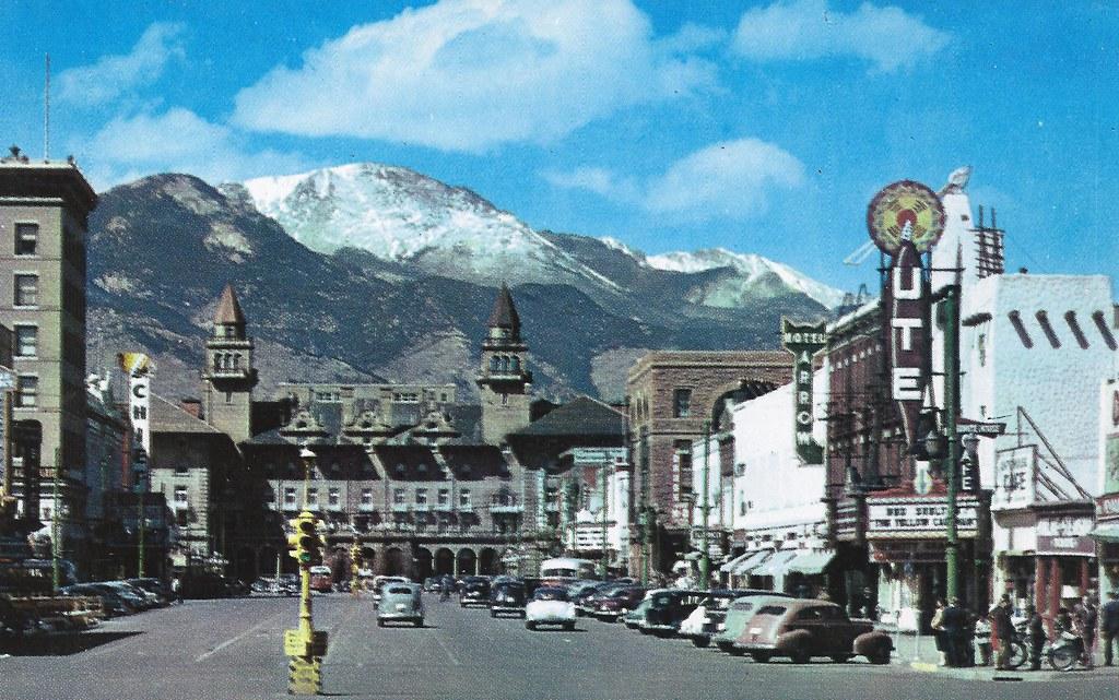 Colorado Springs Colorado Antlers Hotel Ute Theater Th