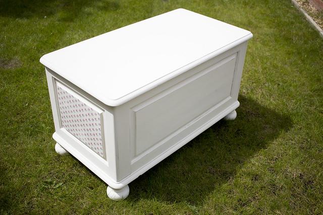 Upcycled decoupaged bedding box