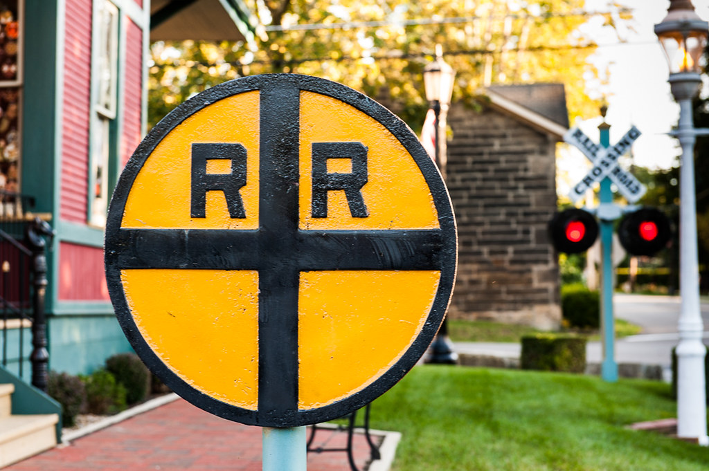 vintage railroad crossing sign a cast iron railroad