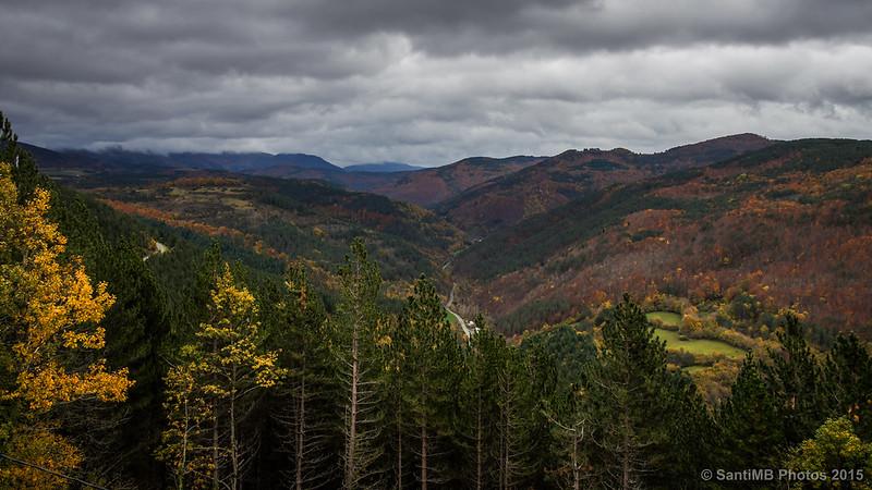 Vistas de los Pirineos desde el mirador de Muskilda