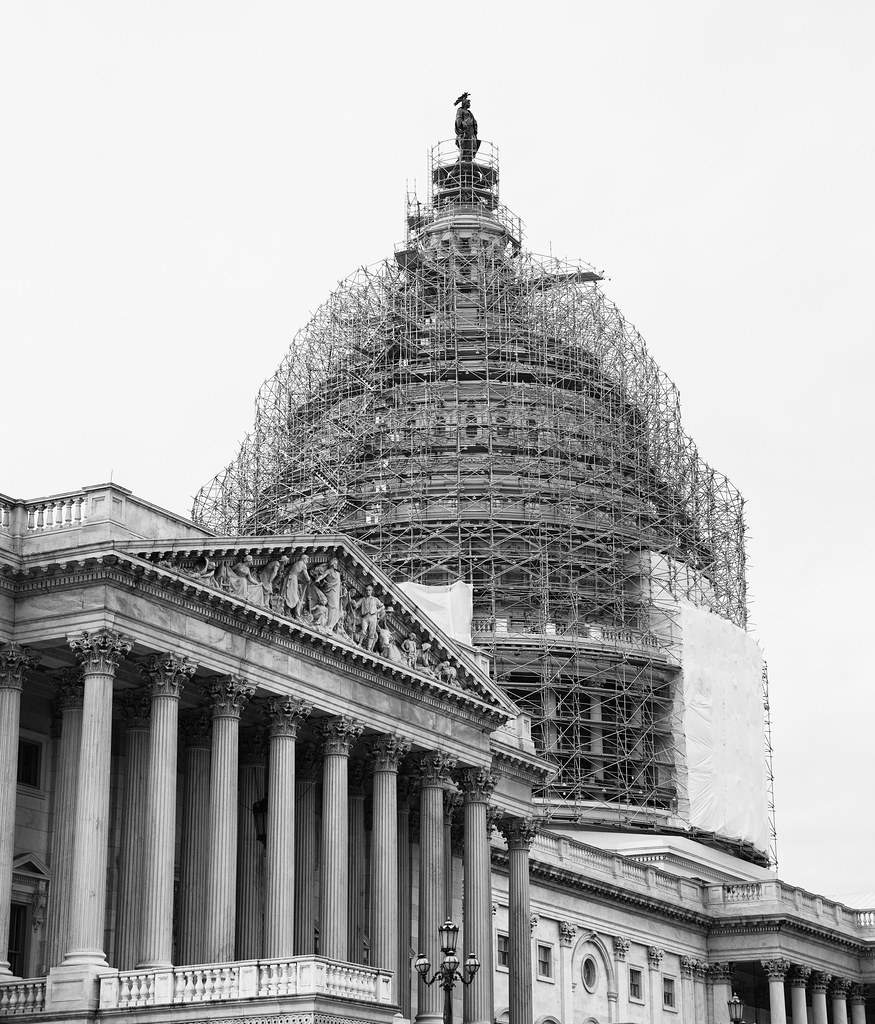 Capitol Building Scaffolding : U s capitol in scaffolds the building