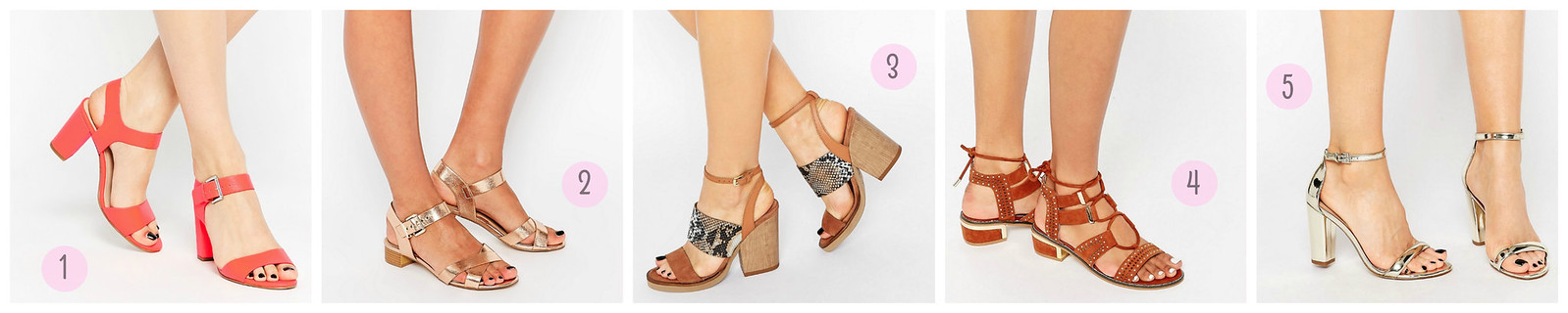 block heels asos spring 2016 selection sandals summer
