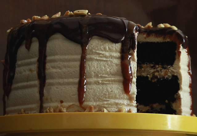 Snickers Chocolate Layer Cake