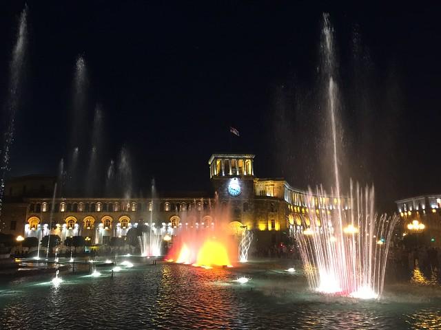 Plaza de la República en Ereván (Armenia)