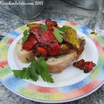 Bruschetta mit gebackener Paprika