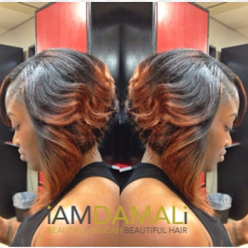 Layered Ombre Bob Quickweave Tampahairstylist Iamdam