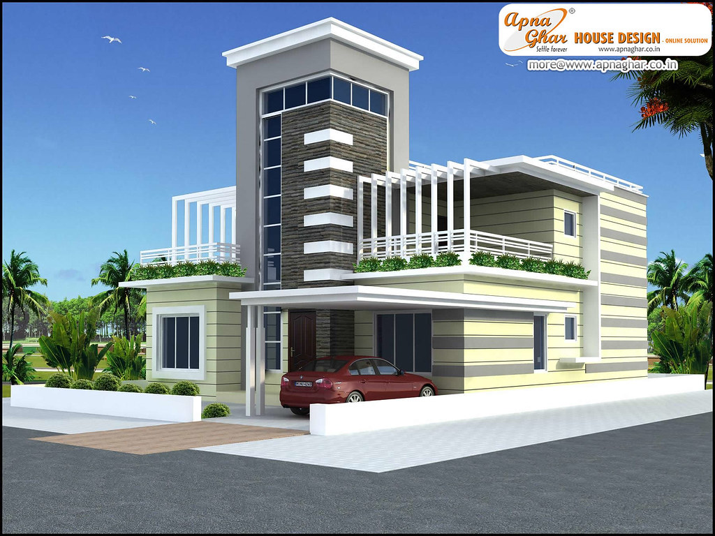 Modern 4 bedrooms duplex house design modern 4 bedrooms for Home designs 12m frontage