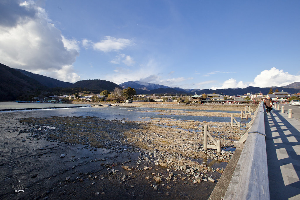 Clouds rolling into Arashiyama