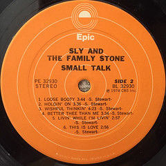 SLY & THE FAMILY STONE:SMALL TALK(LABEL SIDE-B)