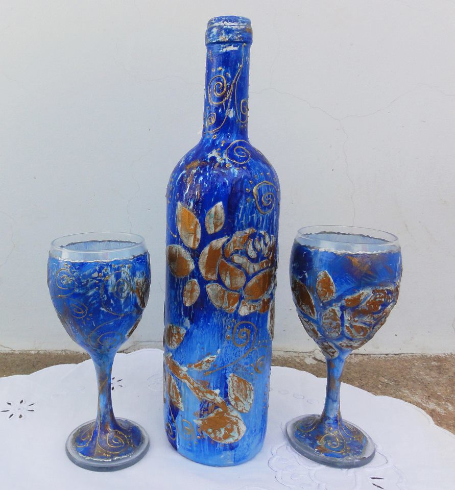 Glass Bottle Crafts For Adults