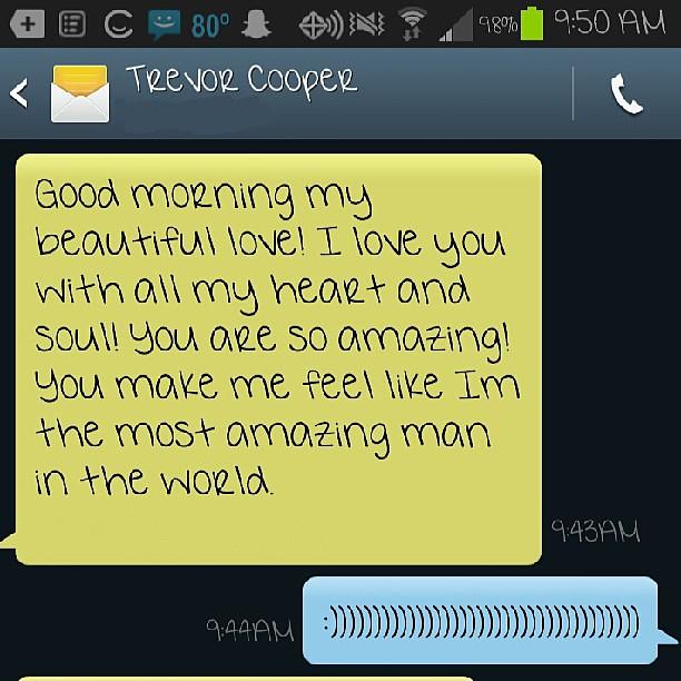 Good Morning Boyfriend Texts : Cute goodnight texts for your boyfriend