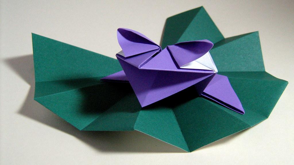 Origami Frog on Water-lily Pad (Kunihiko Kasahara) | Flickr - photo#13