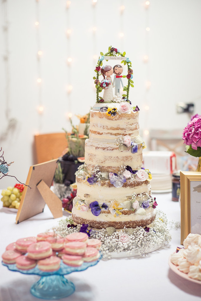 Vintage style naked wedding cake | victoria watkin-jones ...