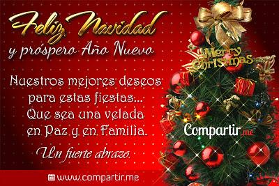 Tarjeta de navidad gratis para imprimir rbol navide o - Postales navidenas originales ...