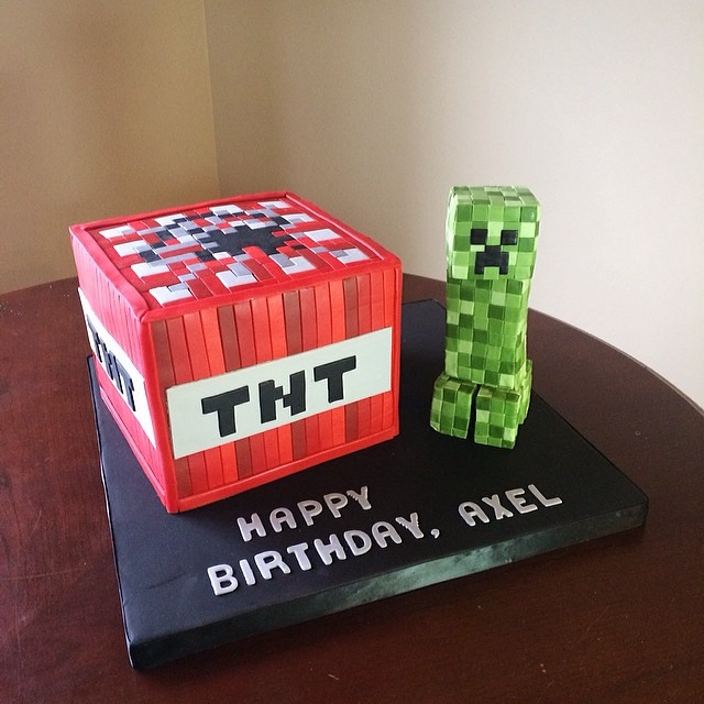 Creeper Tnt Cake