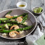 Grilled Shrimp and Asparagus with Lemon-Shallot-Vinaigrette
