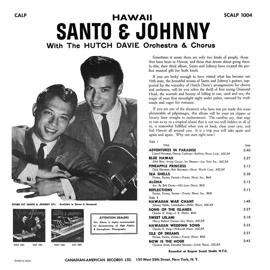 Santo & Johnny - Hawaii